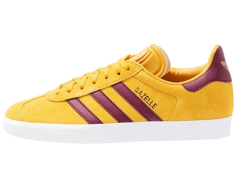 Adidas Originals GAZELLE EXCLUSIVE Baskets basses ray yellow/cherry wood/footwear white