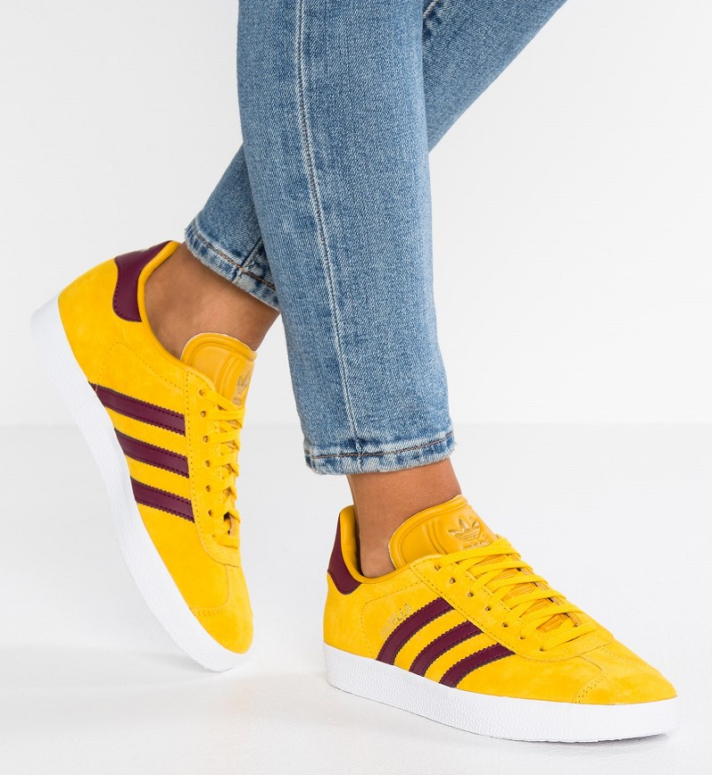Adidas Originals GAZELLE EXCLUSIVE Baskets basses ray yellow/cherry wood/footwear white - Zalando