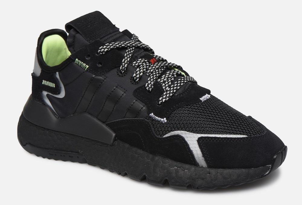 Adidas Originals Nite Jogger Baskets basses Noir pas cher