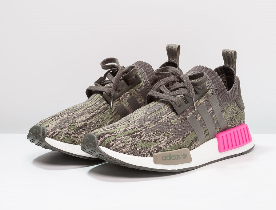 Adidas Originals NMD_R1 PK Baskets basses utility grey/shock pink - Zalando