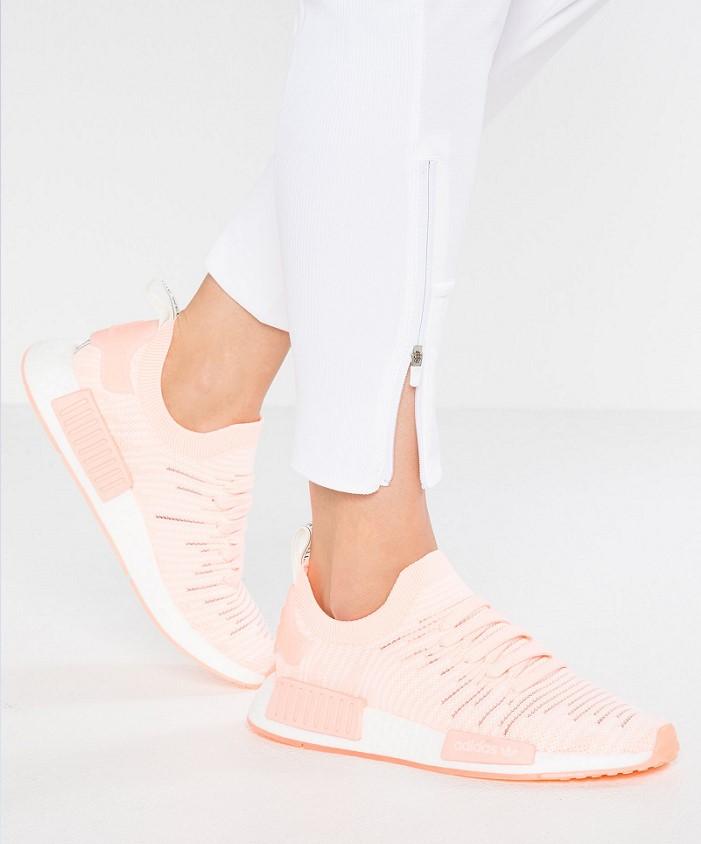 Adidas Originals NMD_R1 STLT PK Baskets basses clear orange/cloud white - Zalando