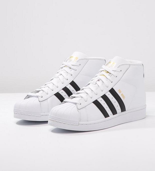 61b81c4993405 Adidas Originals PRO MODEL Baskets montantes white, Baskets Femme Zalando   (Mode)  Zalando Adidas Originals PRO MODEL Baskets montantes white Adidas  ...