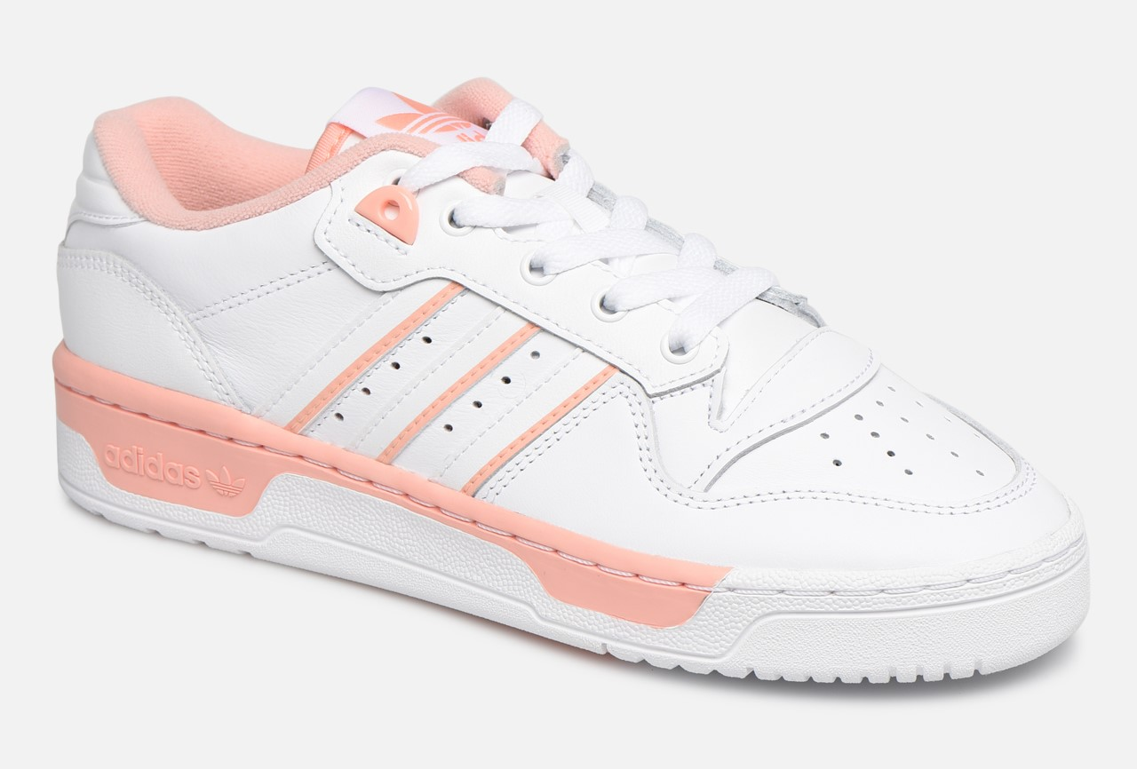 Adidas Originals Rivalry Low W Baskets Basses Ftwr White/Ftwr White/Glow Pink