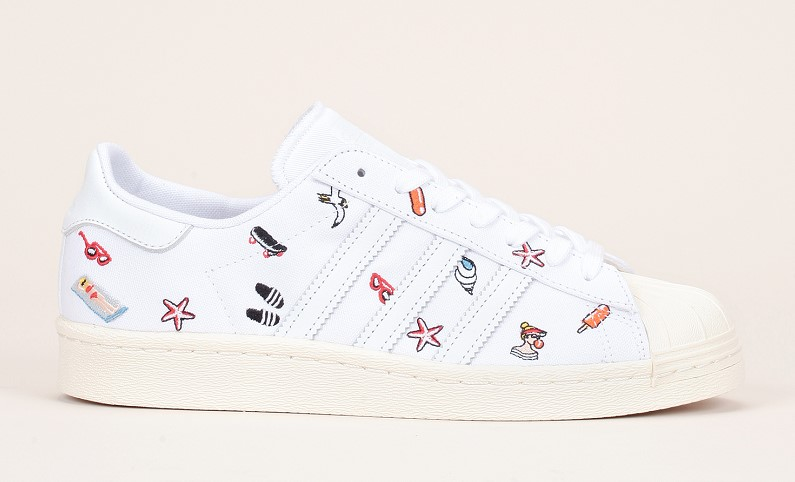 basket adidas toile blanche