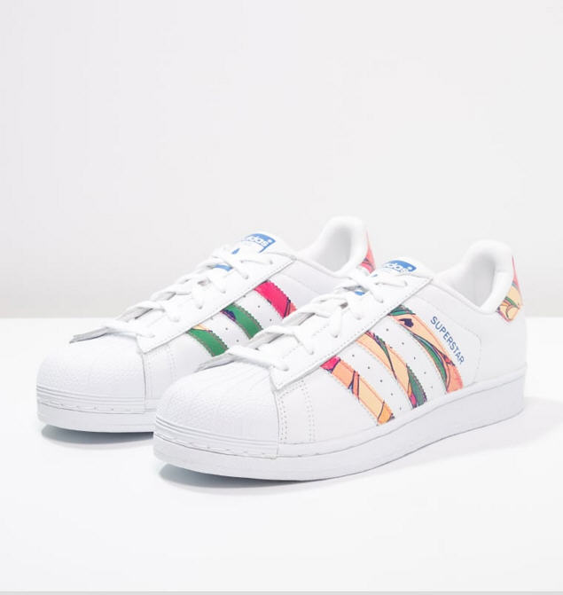 Adidas Originals SUPERSTAR Baskets basses white/lab blue ...