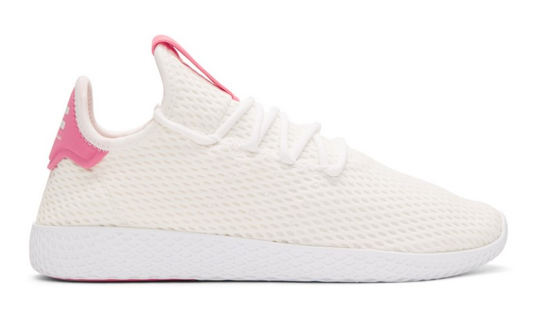 8208bc473 Adidas Originals x Pharrell Williams Baskets blanches et roses Tennis Hu