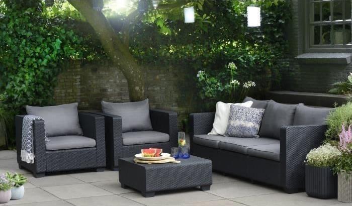 cayo salon de jardin 5 places en eucalyptus pas cher salon de jardin cdiscount. Black Bedroom Furniture Sets. Home Design Ideas