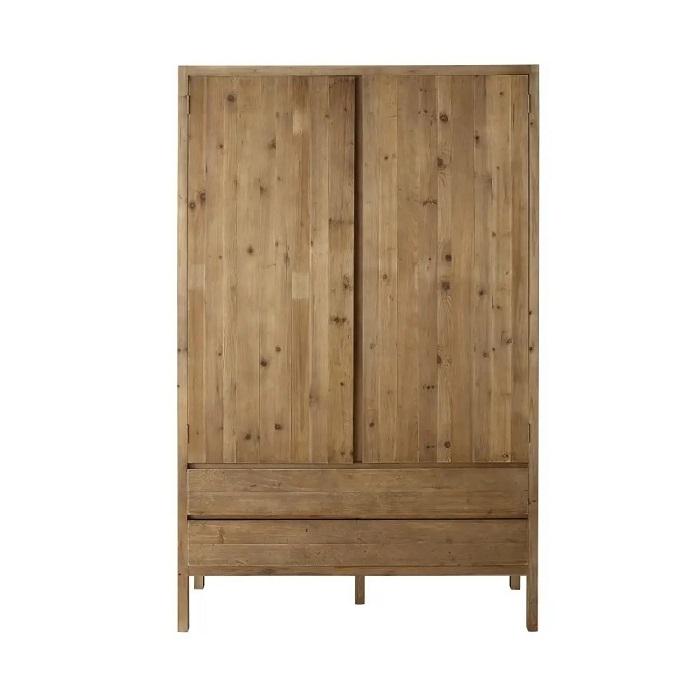 Armoire 2 portes 2 tiroirs Cappadoce en pin recyclé - Maisons de Monde