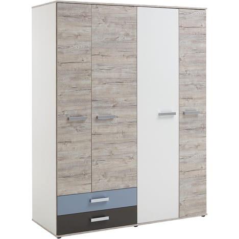 Armoire 4 portes 2 tiroirs MONA - Auchan