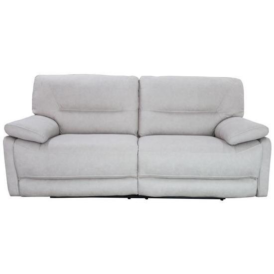 ARTHUS Canapé de relaxation électrique 3 places Tissu beige clair Classique