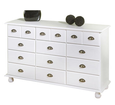 buffet la maison de valerie bahut 12 tiroirs apo blanc. Black Bedroom Furniture Sets. Home Design Ideas