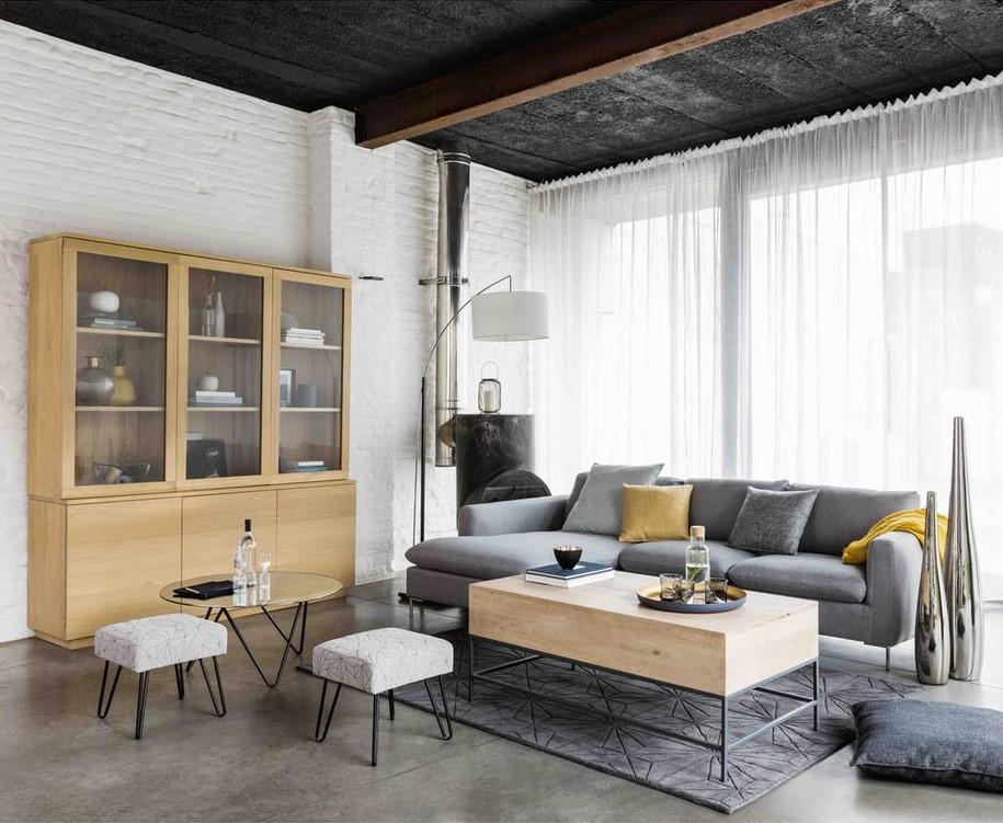 Bahut en chêne massif Hambourg - Soldes Buffet Maisons du Monde