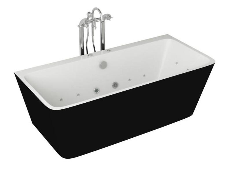 Baignoire Hydromassante Design Bicolore Pas Cher Black