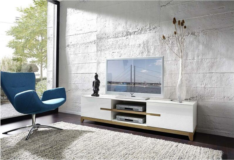 banc tv design blanc riva atylia. Black Bedroom Furniture Sets. Home Design Ideas
