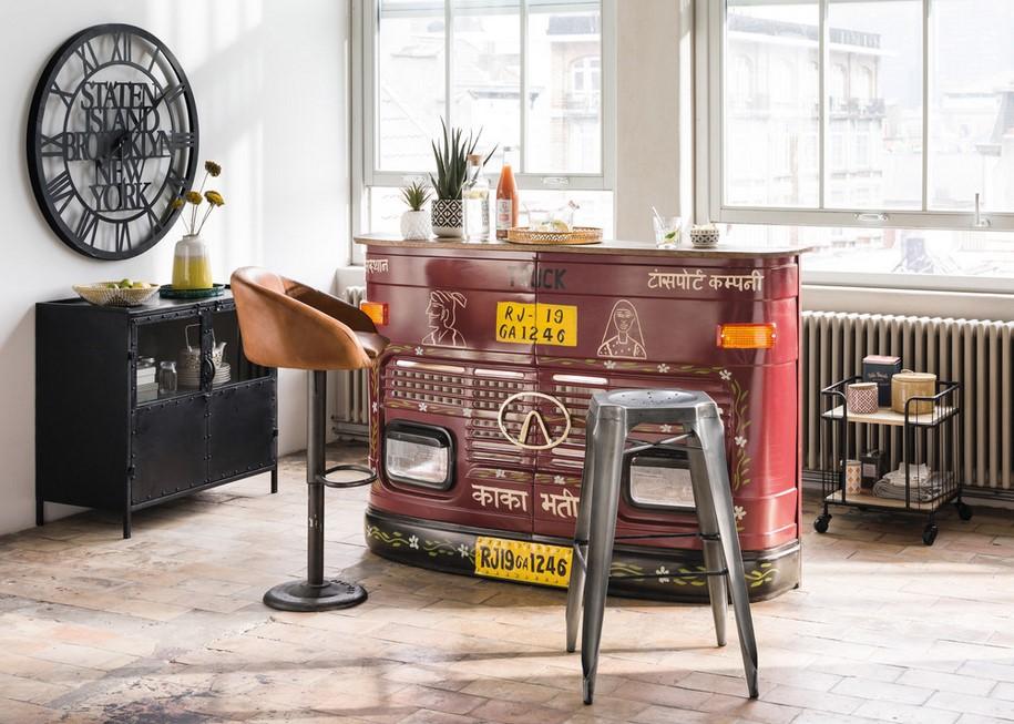 Bar Truck En Metal Et Bois Recycle Bar Maisons Du Monde Iziva Com