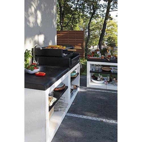 barbecue en b ton blanc cass et noir kitaway grill barbecue leroy merlin. Black Bedroom Furniture Sets. Home Design Ideas