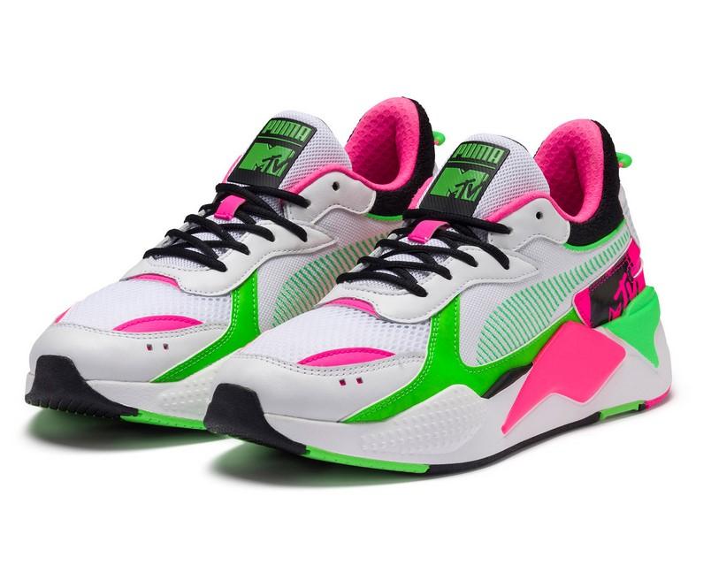 Baskets PUMA x MTV RS-X Tracks Bold Puma White-Puma Black-802 C pour Femme