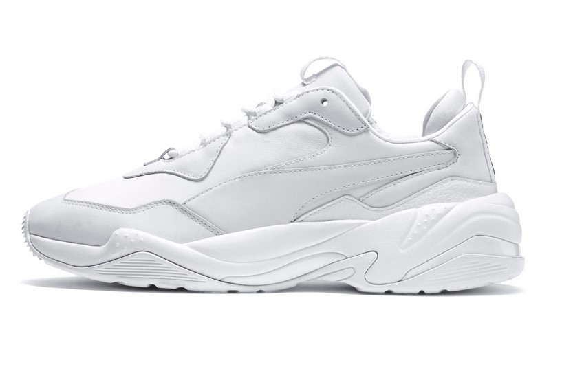 PUMA Thunder Leather Baskets basses white