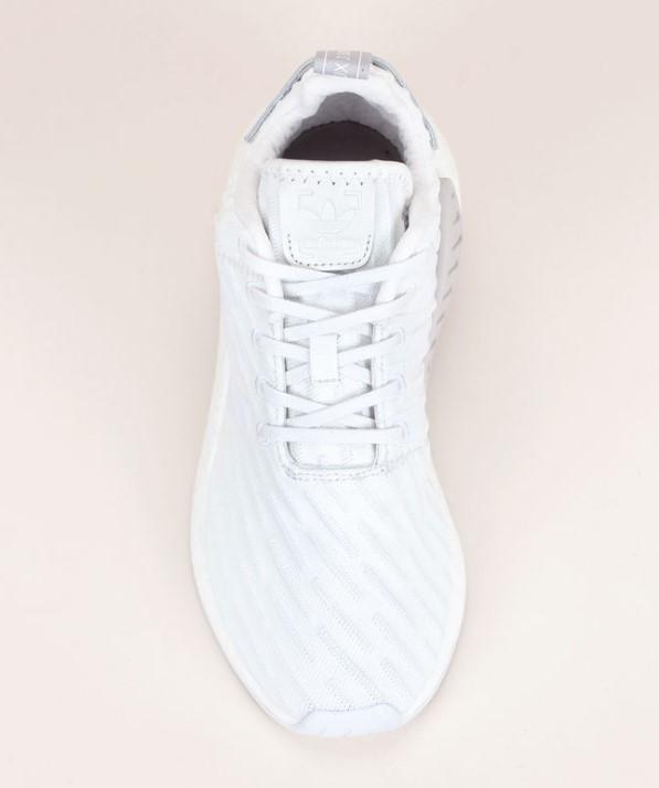 Adidas Originals Baskets bi-matière blanche Originals détail talon en cuir imprimé pois gris