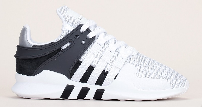 separation shoes 9fc42 fcd40 Baskets textile rayé blancgris EQT Support ADV Adidas Originals. Mode