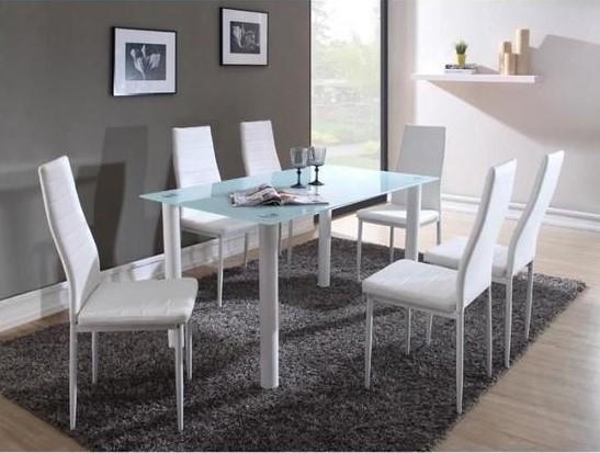 BELAIR Table à manger de 4 à 6 personnes