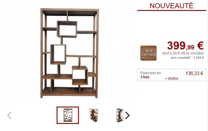 Bibliothèque COPELIA avec rangements pas cher - Bibliothèque Vente ... ba10e82dfc78