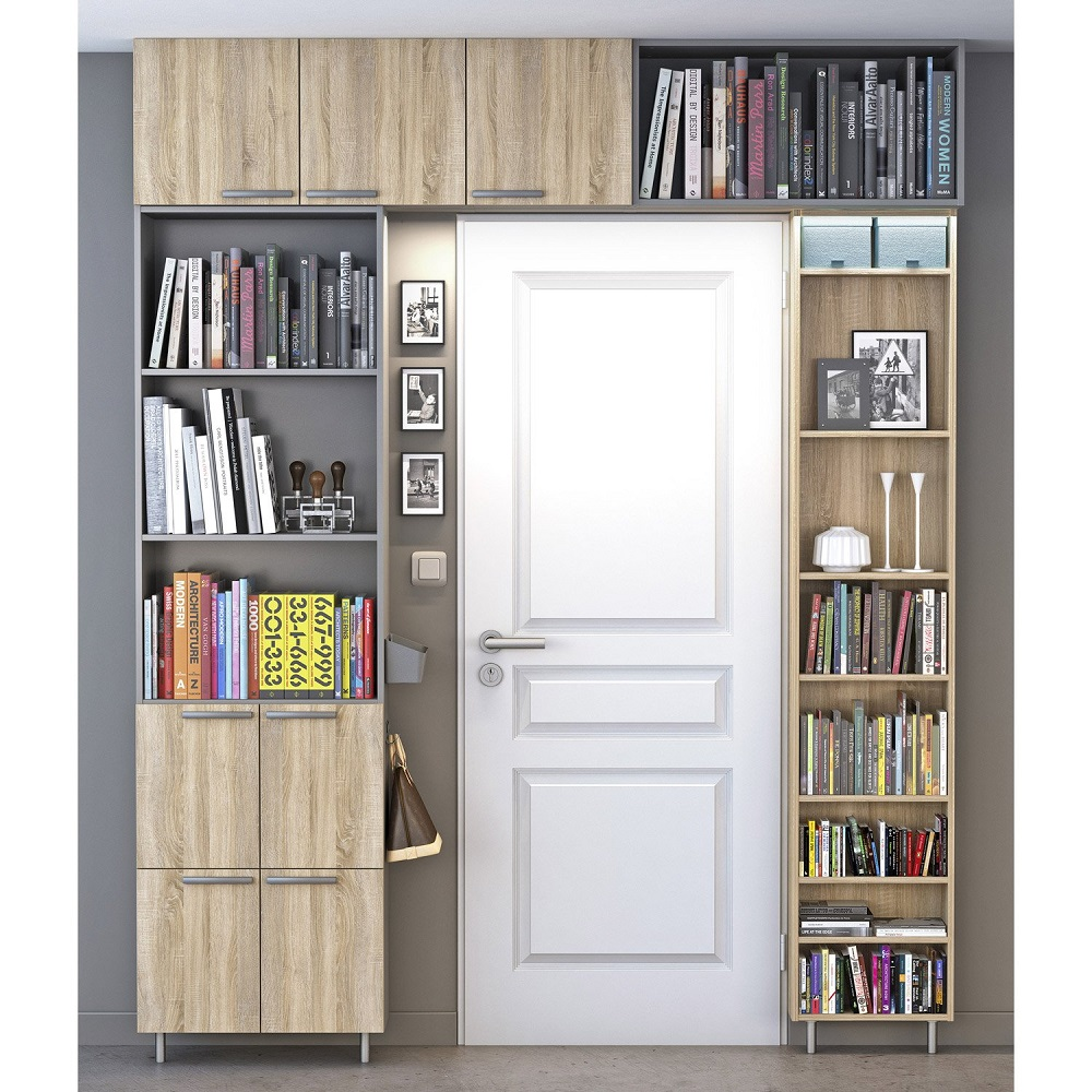 Bibliotheque Spaceo Home Effet Chene Pas Cher Bibliotheque Leroy