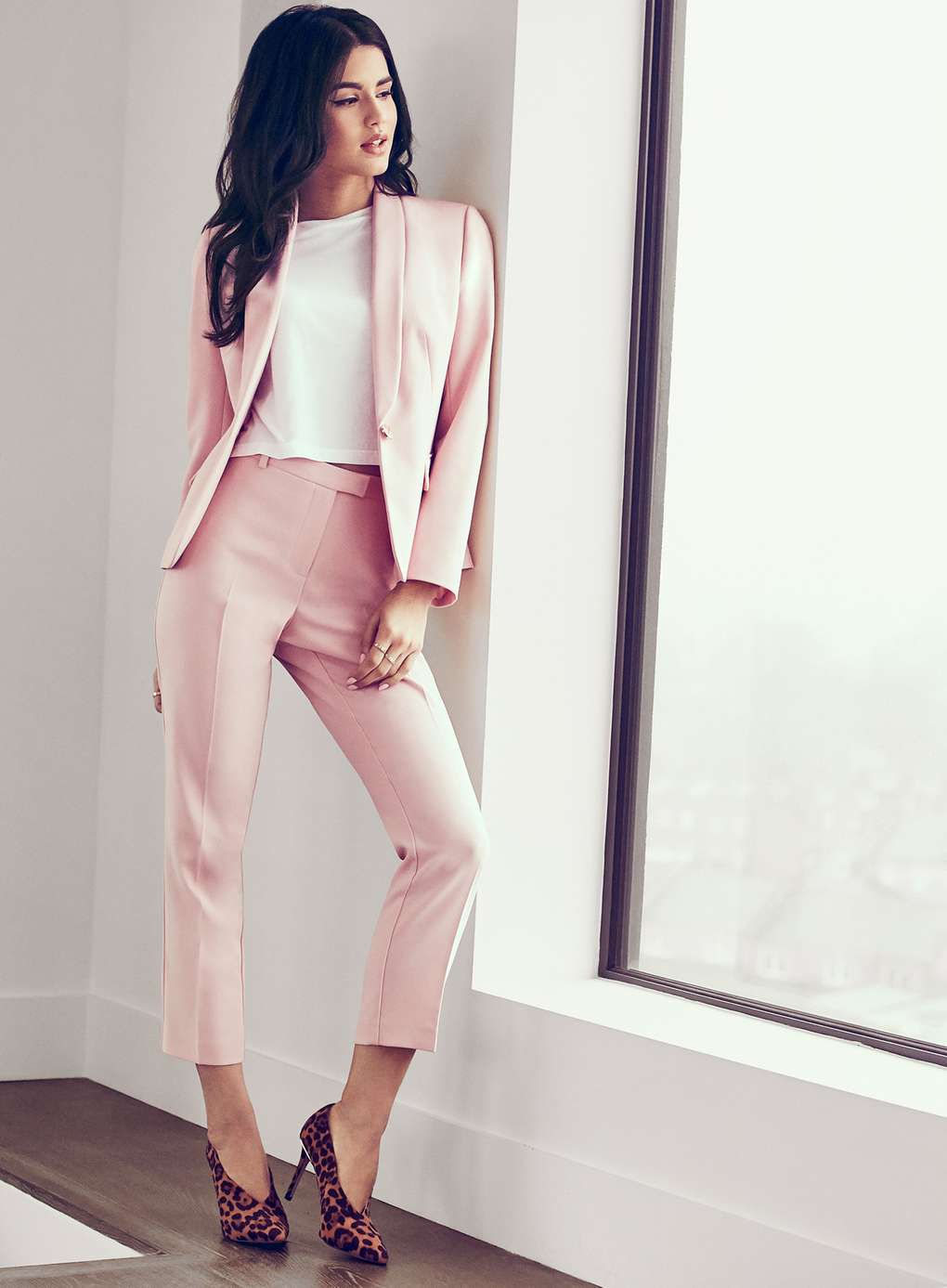 Blazer rose à un bouton Miss Selfridge