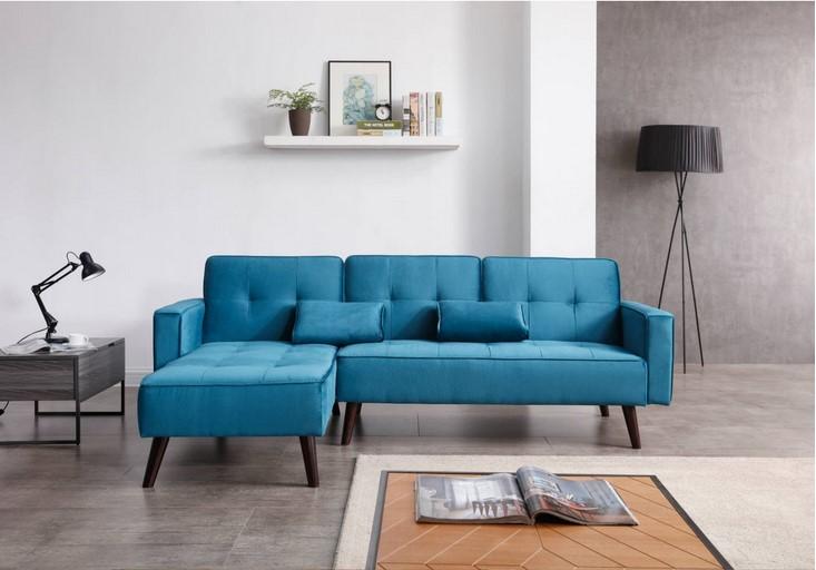 Bobochic Scandinave Lisea D'angle Velours Réversible En Convertible Au Design Canapé O08kXnPNw