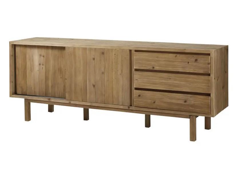 Buffet 2 portes 3 tiroirs Cappadoce en pin recyclé - Maisons du Monde