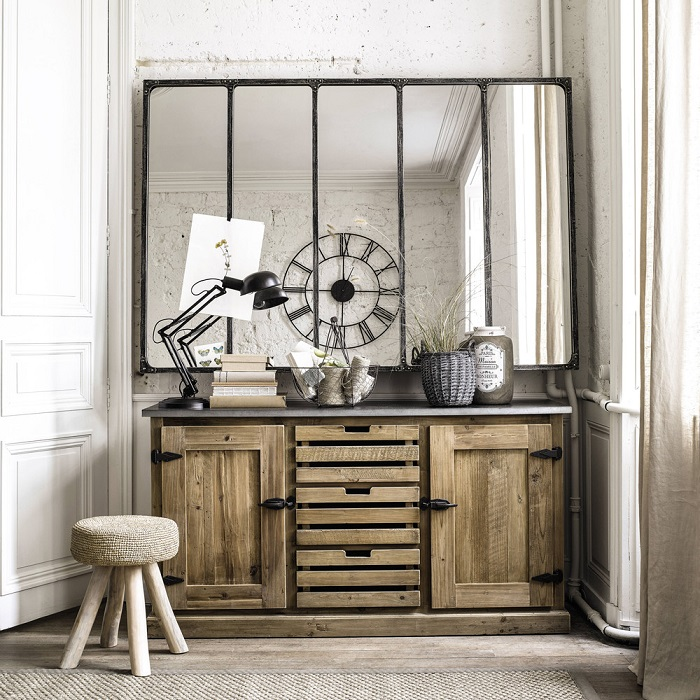 buffet en bois recycl pagnol buffet maisons du monde. Black Bedroom Furniture Sets. Home Design Ideas