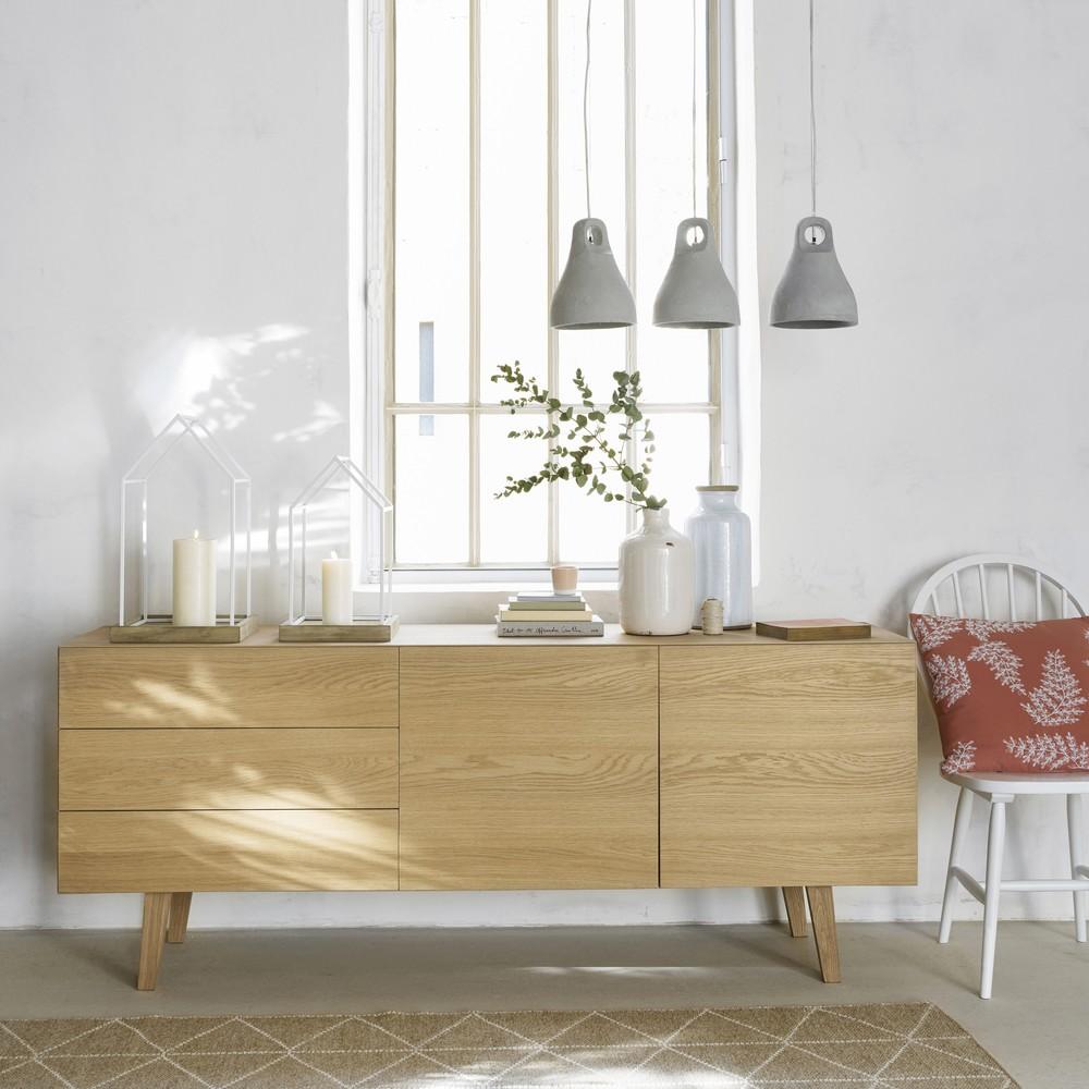 buffet scandinave portobello en ch ne massif fran ais. Black Bedroom Furniture Sets. Home Design Ideas