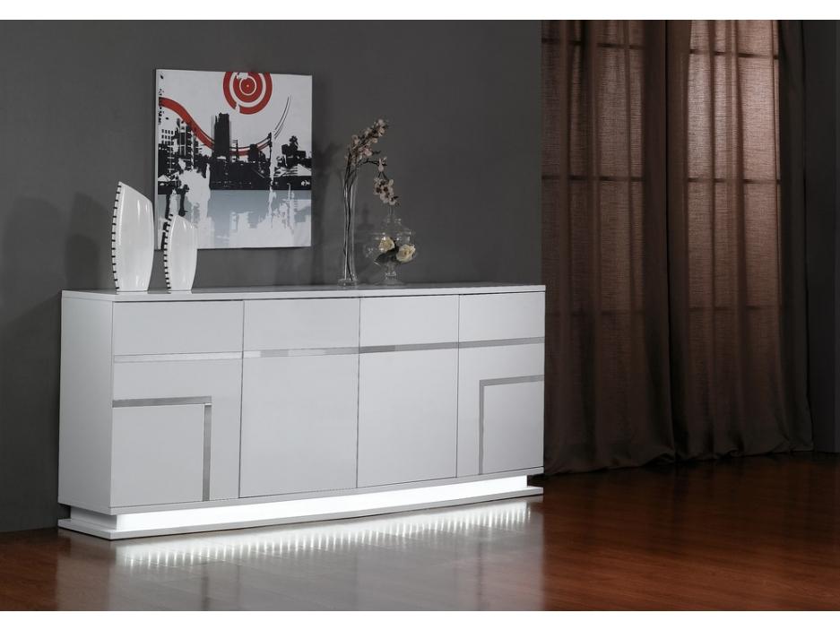 Meuble TV noir éclairage LED Sur Iziva - Iziva.com