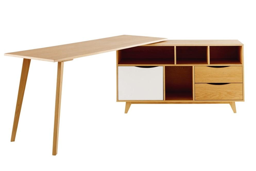 Bureau d angle poppins porte tiroirs bureau maisons du monde