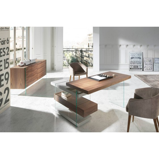bureau en verre sur iziva. Black Bedroom Furniture Sets. Home Design Ideas