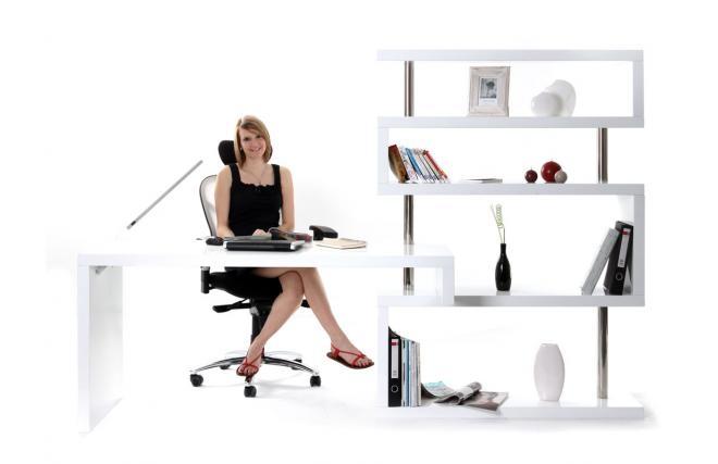 Soldes bureau miliboo bureau design blanc laqué amovible t max
