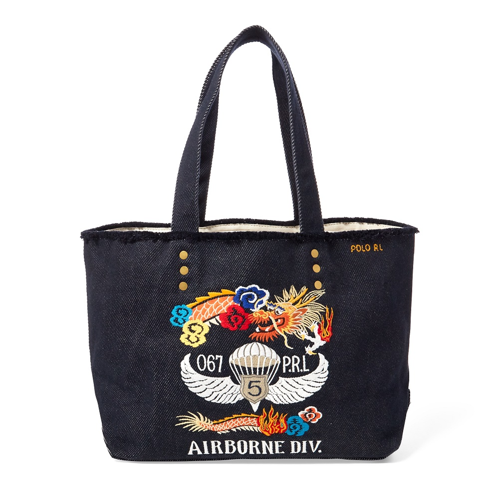 Polo Ralph Lauren Cabas Dragon-Embroidered Canvas Tote - Sacs à Main ... e4f8f78d4726