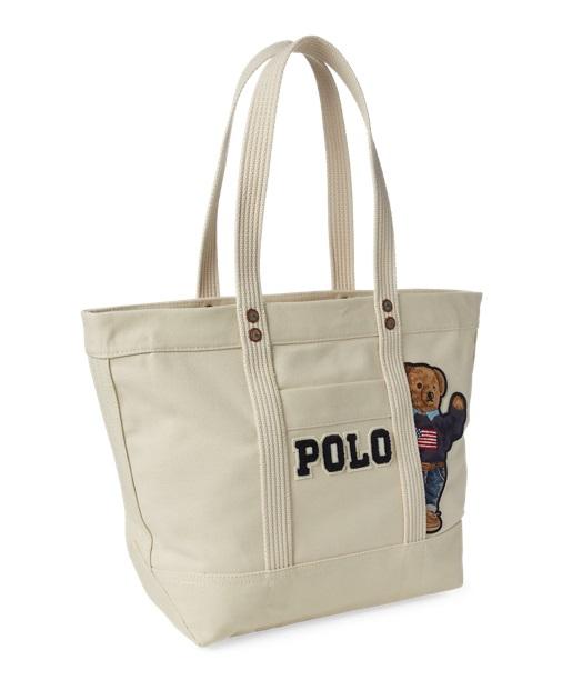 ed8832a5786 Polo Ralph Lauren Canvas Polo Bear Tote Bag Ecru - Sacs à Main Ralph ...