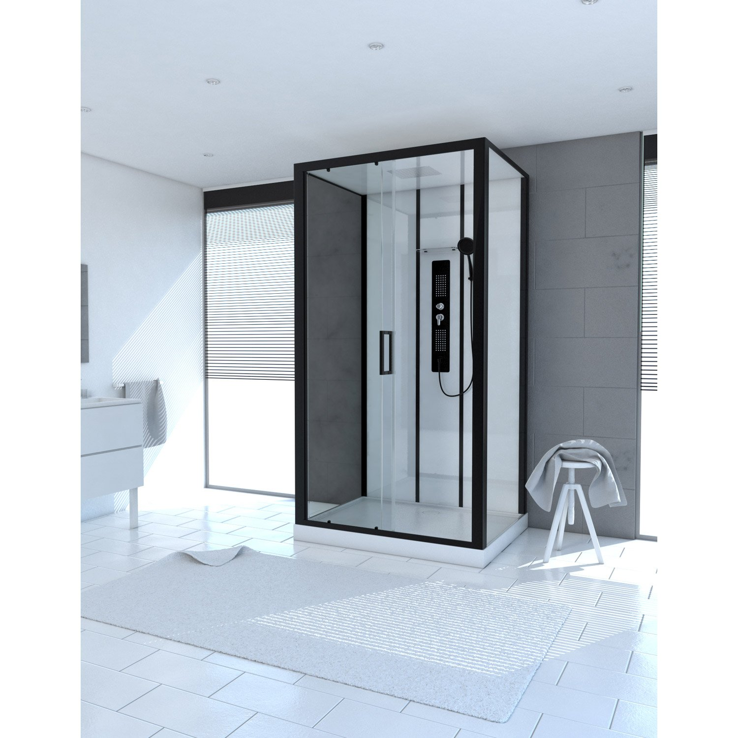 cabine de douche carrefour aurlane cabine de douche luke. Black Bedroom Furniture Sets. Home Design Ideas