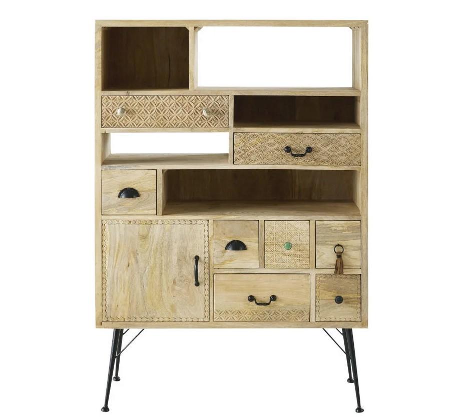Cabinet De Rangement En Metal Noir Office Cabinet Maisons Du Monde