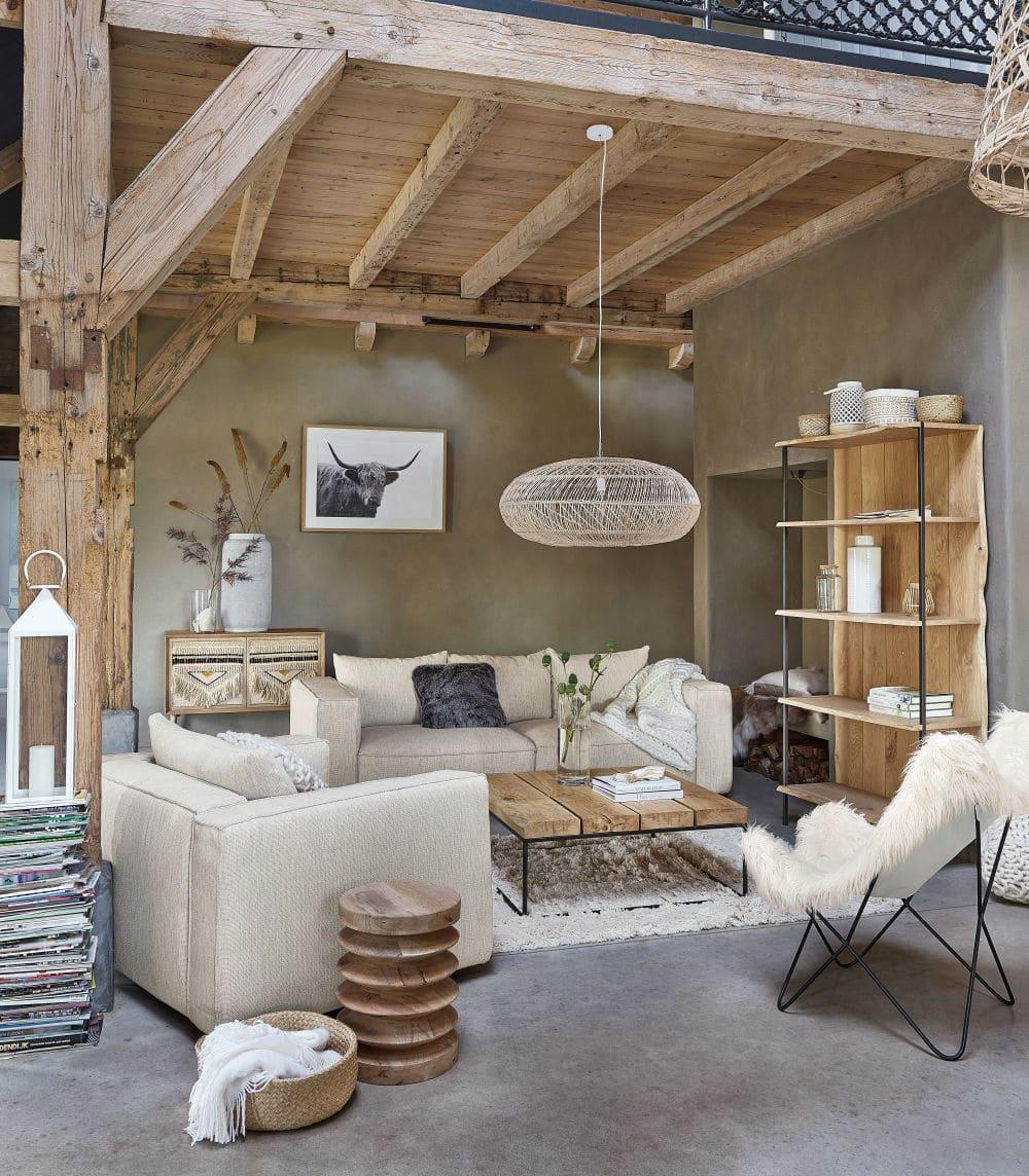 Canapé 3 places Falkor éco-conçu gris clair chiné - Maisons du Monde