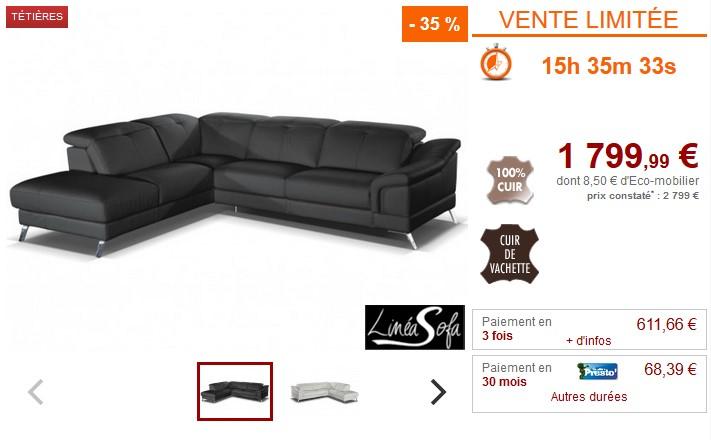939eac333c3 Canapé d angle 100% cuir italien SARDAIGNE Noir pas cher - Canapé Vente  Unique  (Maison)  Vente Unique Canapé d angle 100% cuir italien SARDAIGNE  Noir ...