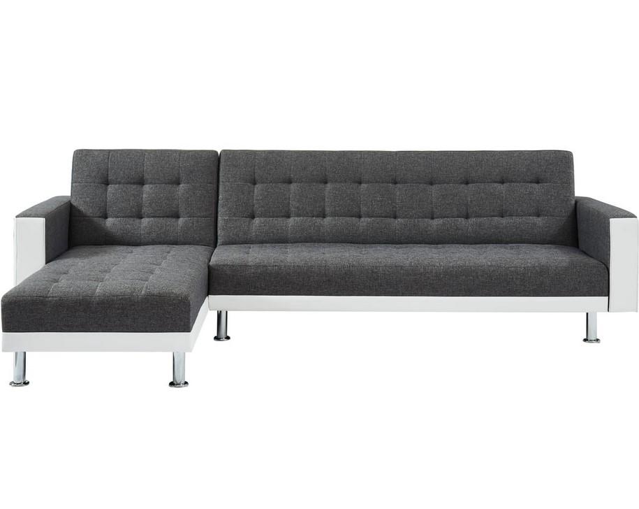 Canapé d'angle convertible réversible LUXOR 2 tissu simili - Auchan