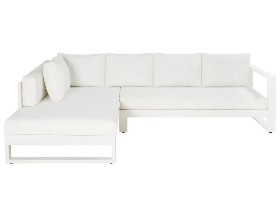 Canapé d'angle de jardin 4/5 en places Thetis en aluminium blanc - Maisons du Monde