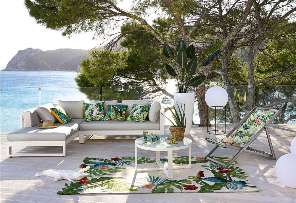 Canapé d\'angle de jardin 4/5 en places Thetis en aluminium ...