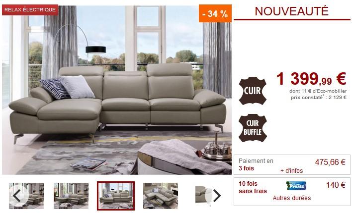 canap d 39 angle relax electrique cuir marsala avec t ti res canap vente unique. Black Bedroom Furniture Sets. Home Design Ideas