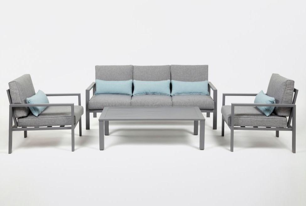 Canapé de jardin aluminium Blooma Nymark gris pas cher ...