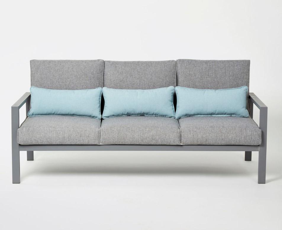 canap de jardin aluminium blooma nymark gris pas cher. Black Bedroom Furniture Sets. Home Design Ideas