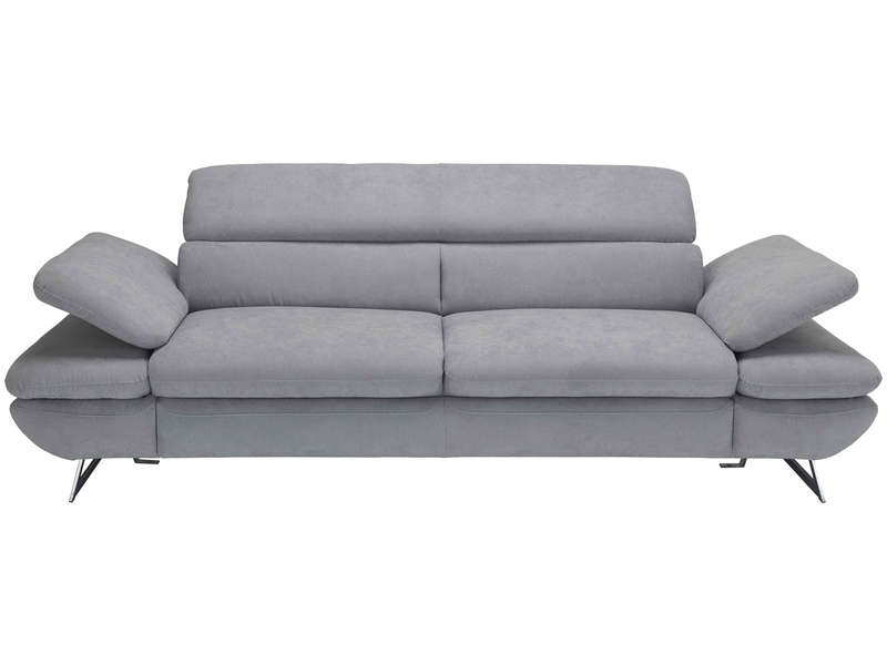 Canapé droit 3 places CLAUDIO en tissu pas cher - Soldes Canapé Conforama