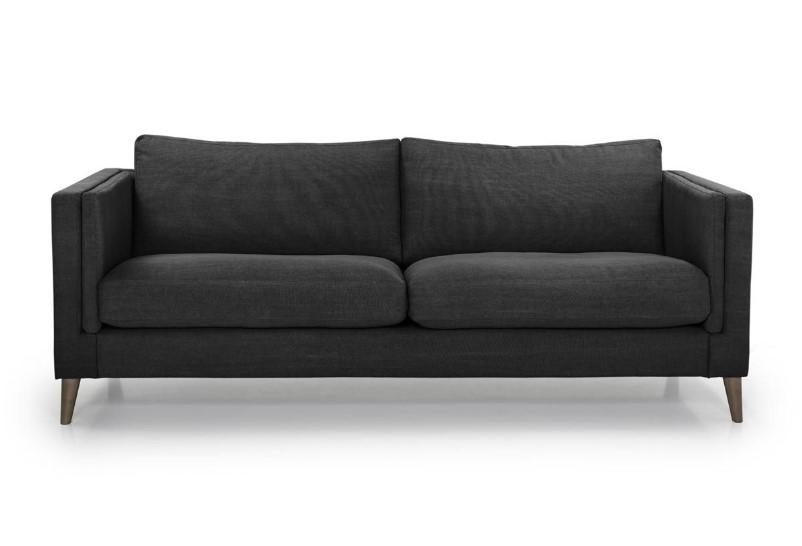 canap en cuir italien couleur chocolat aspen canap decoclico. Black Bedroom Furniture Sets. Home Design Ideas